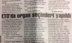 ETO'da Organ Seçimleri Yapıldı
