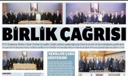ETO Başkanı Metin Güler'den Birlik Çağrısı