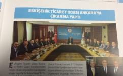 Eskişehir Ticaret Odası Ankara'ya Çıkarma Yaptı